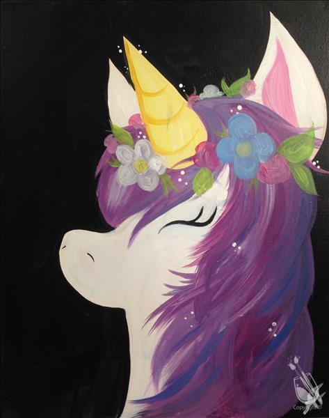 How to Paint **FAMILY DAY** Flower Crown Unicorn