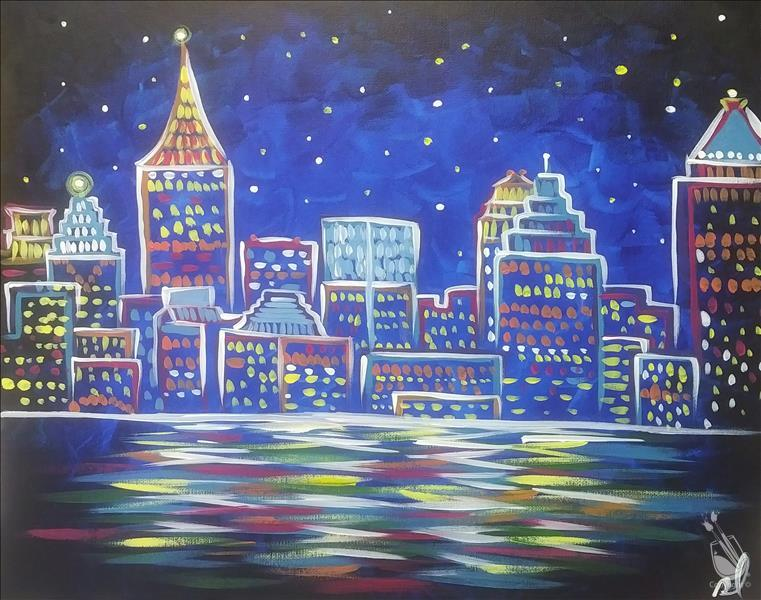How to Paint **LOCAL FAVE!** Neon Atlanta Skyline