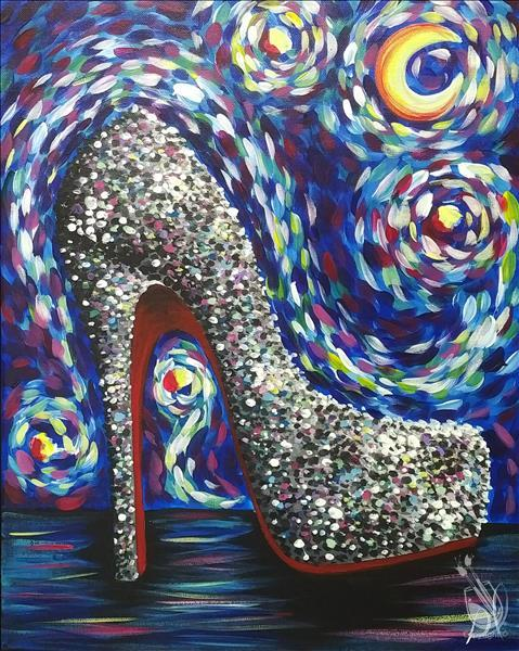 Starry Night Over Stilettos - BLACKLIGHT PARTY