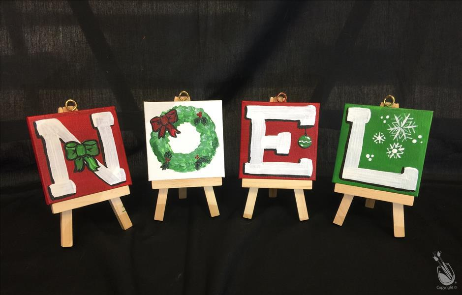 Noel Christmas Mini Easel Set