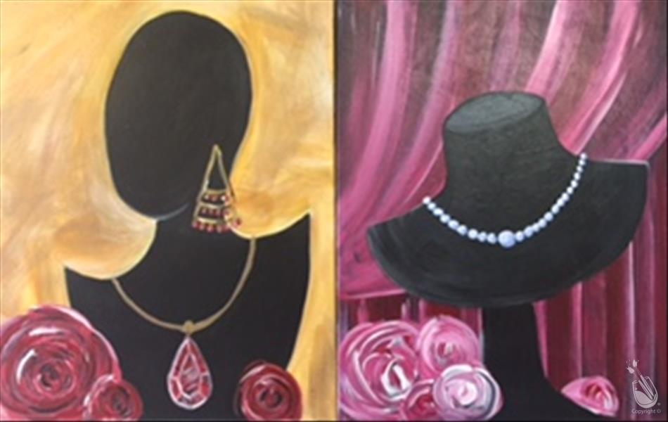 New art rubies and pearls set you choose wednesday for Painting with a twist cedar hill tx