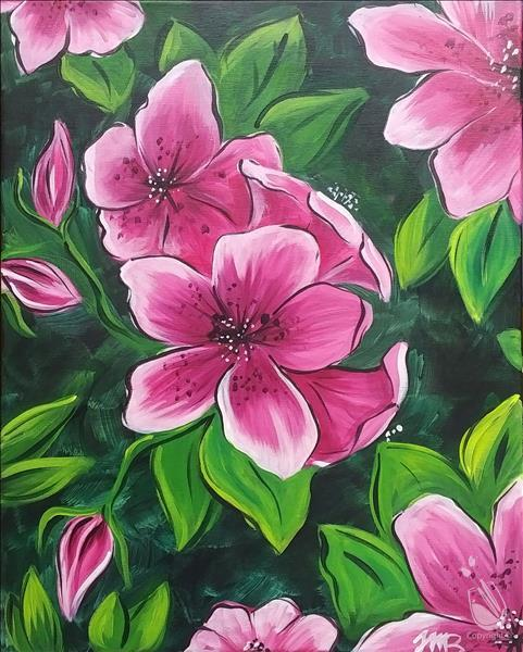 Azaleas in Spring-Double Paint Points! Ages 14+
