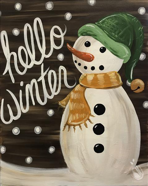 How to Paint Rustic Snowman