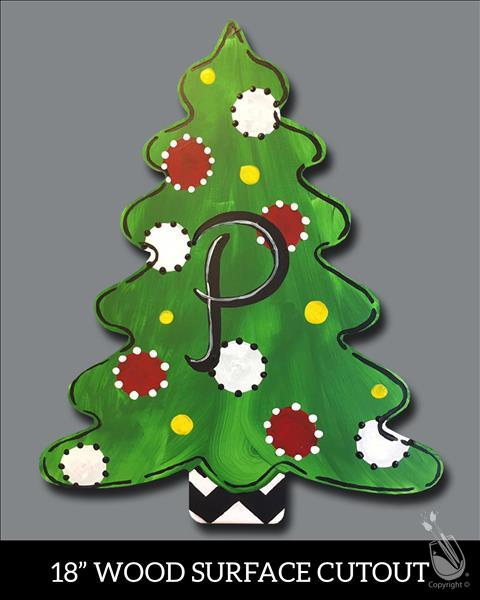Monogram Tree Cutout