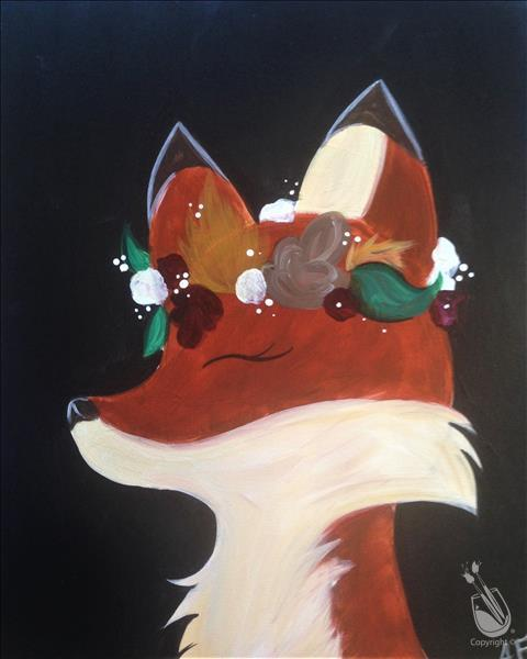 How to Paint Flower Crown Animals - Fox-A real CUTIE! 6+
