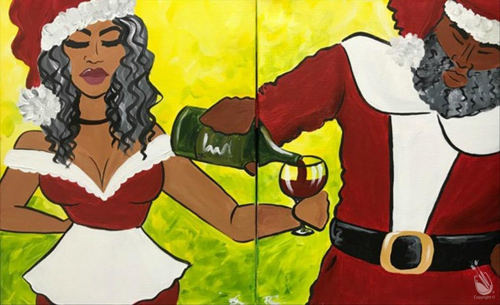 How to Paint Pour Me Another, Santa