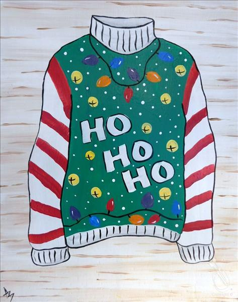 How to Paint Ugly Sweater Contest!