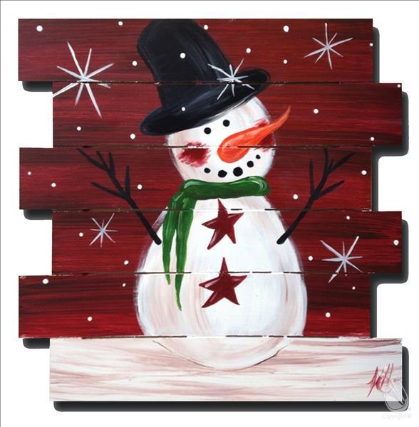 In Studio - Holiday Snowman Pallet