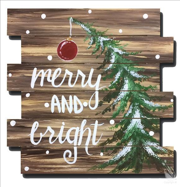 How to Paint Merry and Bright Pallet