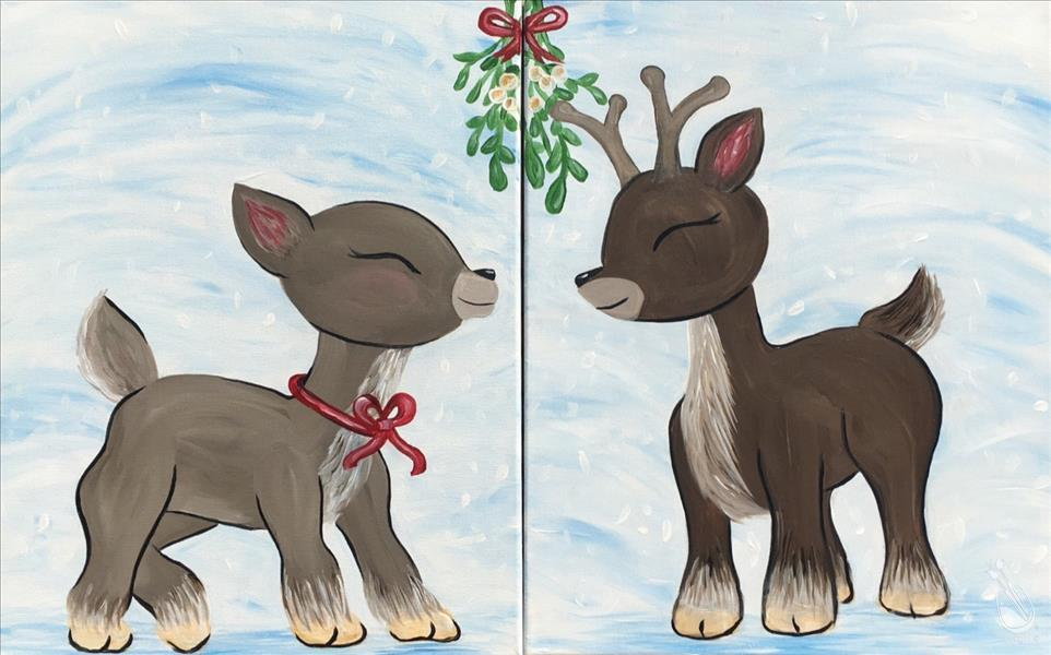 How to Paint Reindeer Kisses - Pick your side.