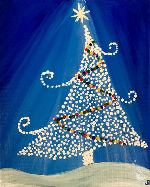 How to Paint *Kid Friendly* Twinkly Tree
