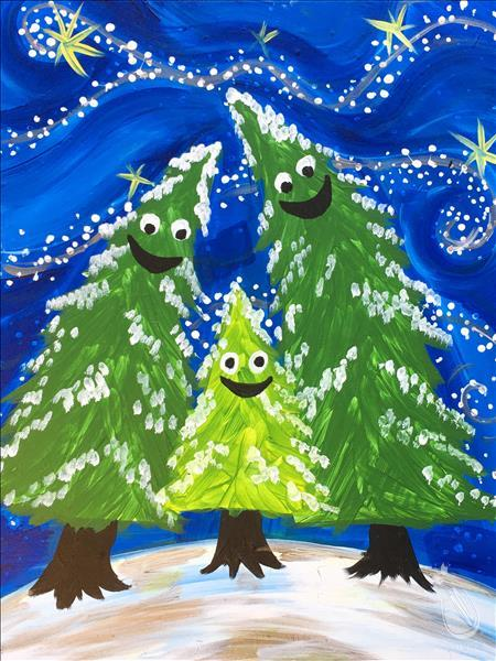 How to Paint A Happy Tree Family - NEW ART!!