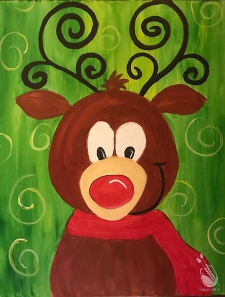 How to Paint Crazy Reindeer (All Ages)