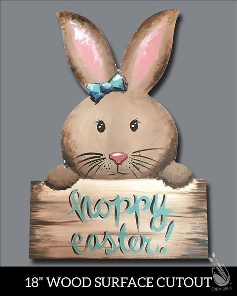 Hoppy Brown Easter Bunny Cutout