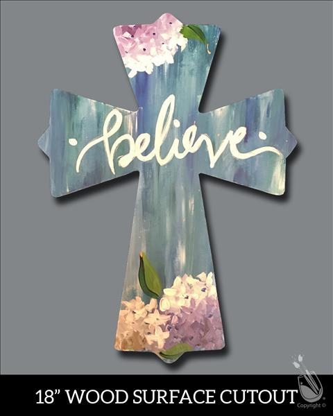 Believe Cross Cutout *LIMITED SEATING*