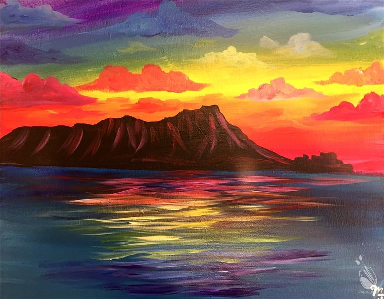 Rainbow Diamond head Painting Party