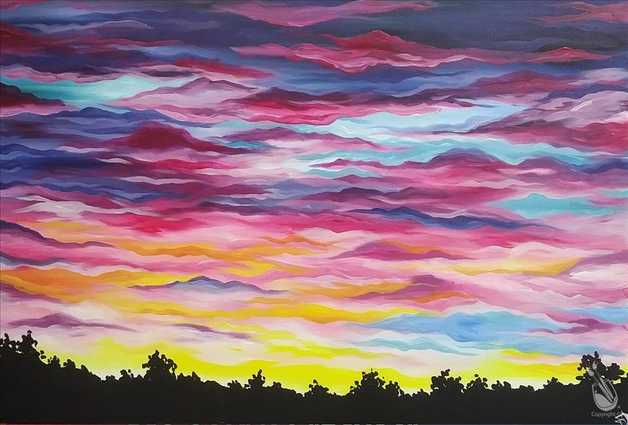 "BIG CANVAS! ""Isabel Sunset"""