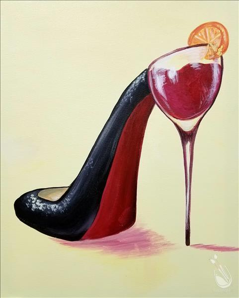 Sangria Stiletto *Ladies In Studio Night*