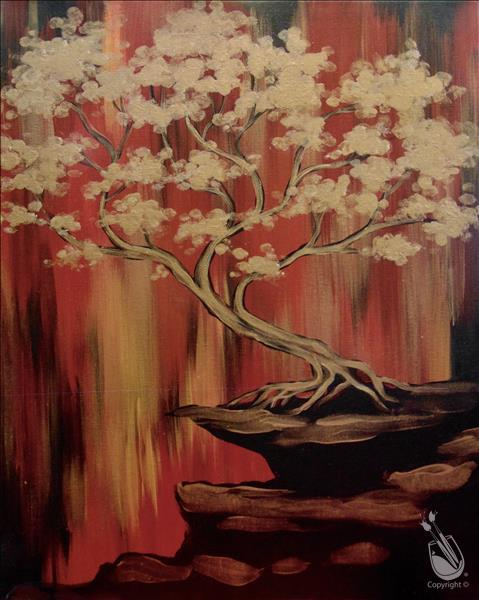 How to Paint Mindful Monday: Golden Bonsai