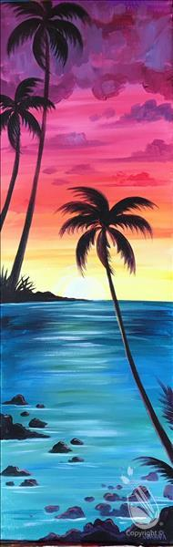 How to Paint OFFSITE @ Ogden Tap Room-Sunset Palm 10x30""