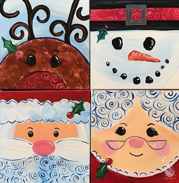 How to Paint Cocoa & Canvas with Mrs. Claus! Family Event!