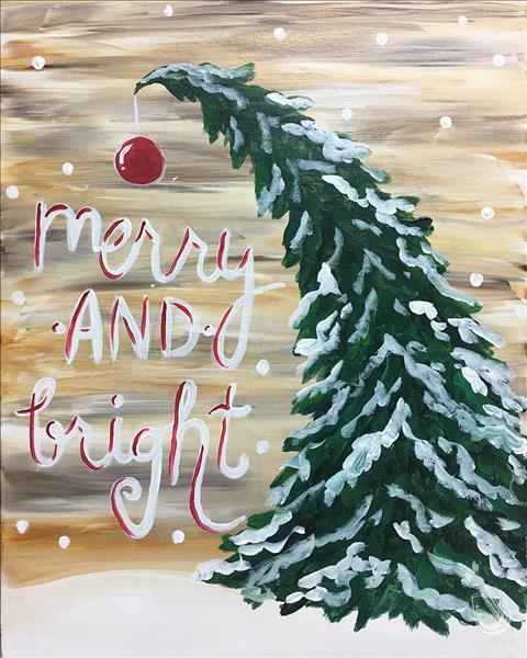 How to Paint Rustic Merry and Bright