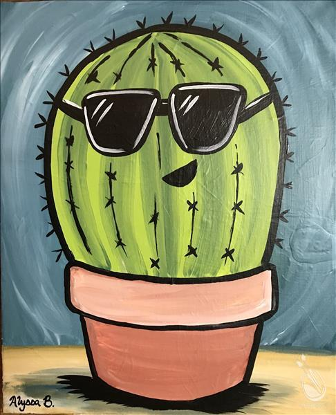 How to Paint One Cool Cactus - All Ages Welcome!