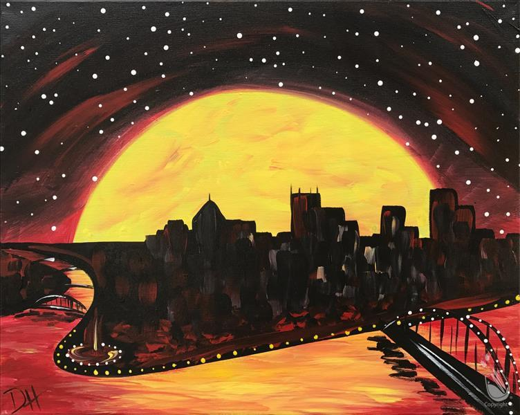How to Paint Pittsburgh Moonrise