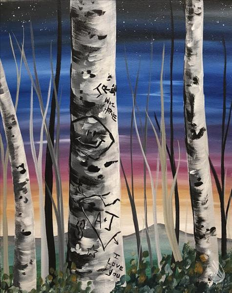 Graffiti Aspen Sunset - In Studio