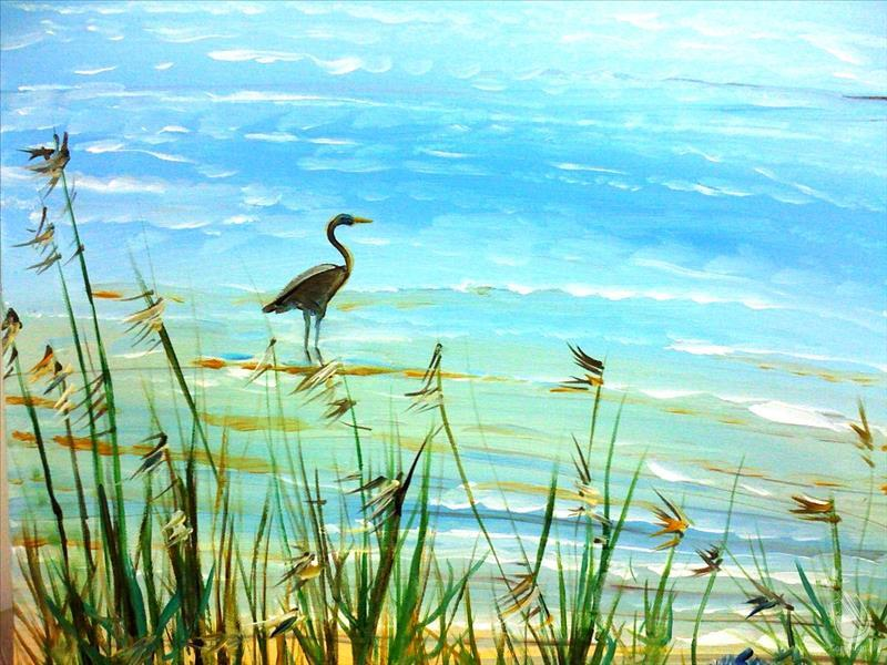 Heron at the Beach