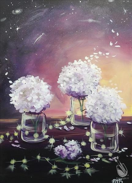 Galactic Flowers Painting Party