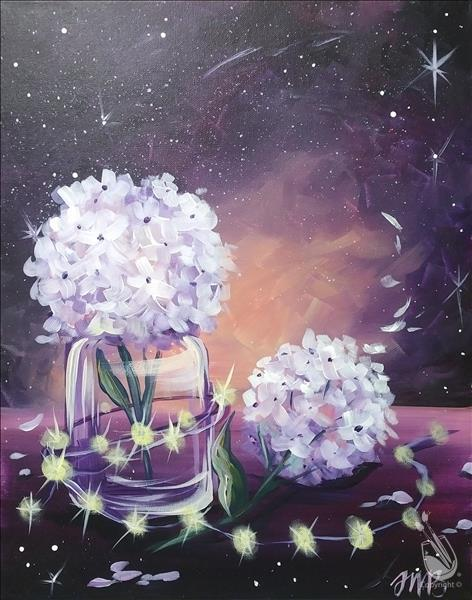 How to Paint First Day of Spring--Galactic Hydrangeas