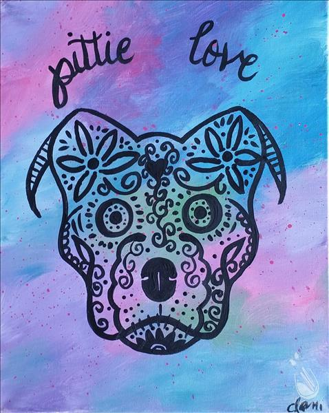 How to Paint Pittie Love