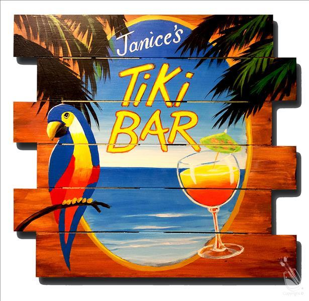 How to Paint Personalized Pallets Tiki Bar Sign!