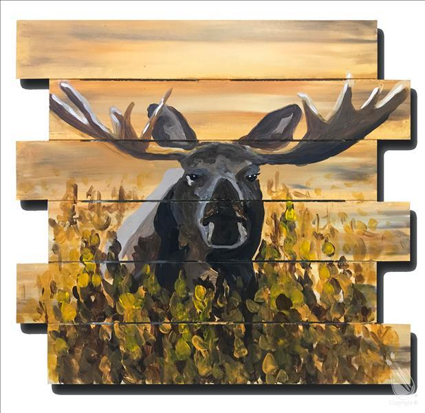 Moose on Ochre Pallet 1/2 off Bottle of Wine!