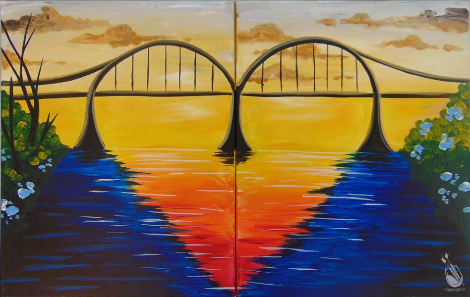 How to Paint Lovers Bridge - Single or Couple's Set!