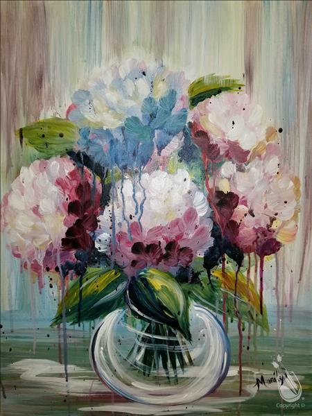 How to Paint DRIPPY HYDRANGEAS