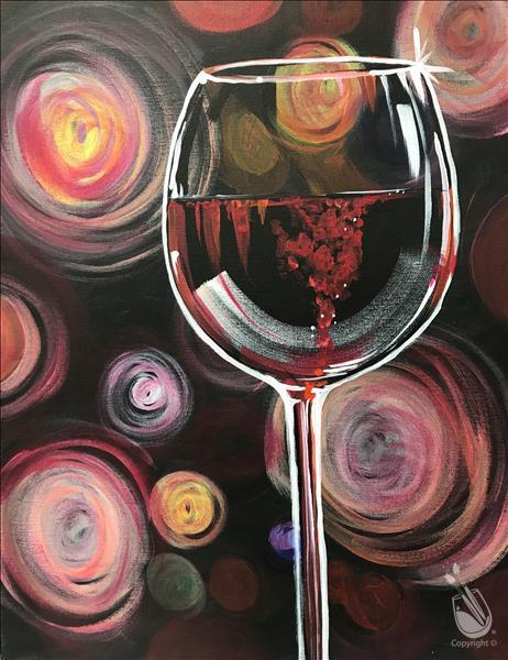Swirly Glasses - A Glass of Red