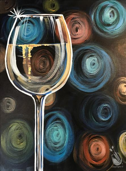 How to Paint Swirly Glasses - A Glass of White