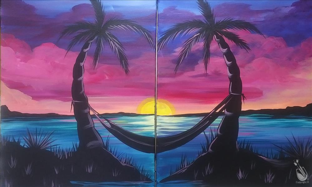 Lovers Paradise Set! Date Night Couples Painting!