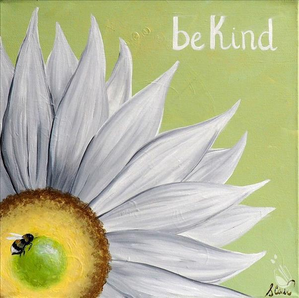 How to Paint **COFFEE & CANVAS** Be Kind Daisy