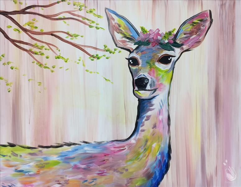 NEW! Colorful Flower Deer - Doe