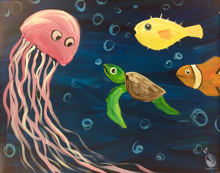How to Paint Open Class - Sea Party - ALL AGES! $25