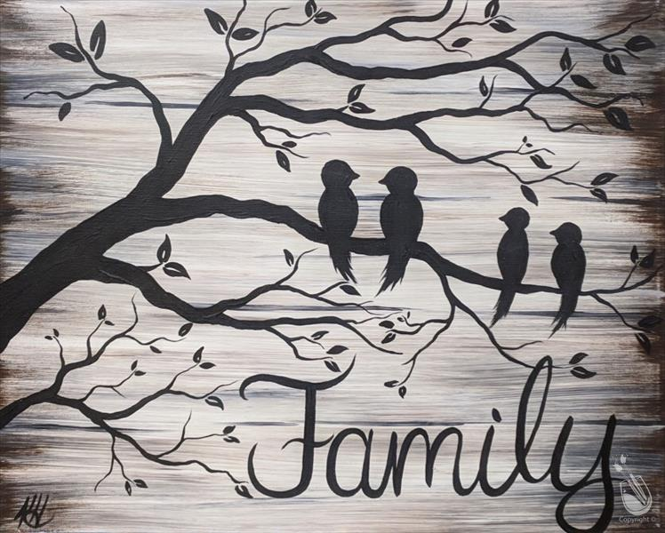 Rustic Family Tree! *CUSTOMIZE WORD*