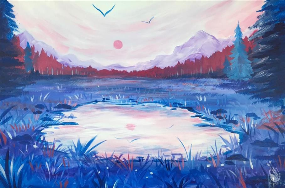 Pastel Pond - LARGE CANVAS OPTION!