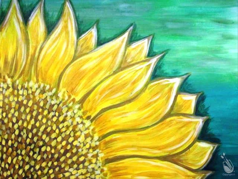 Sunflower on Teal - 16&Up