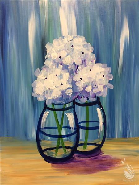 After School Art - Little Happy Hydrangeas