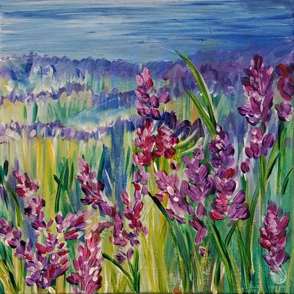 How to Paint Fields of Lavender *12x12 Canvas*