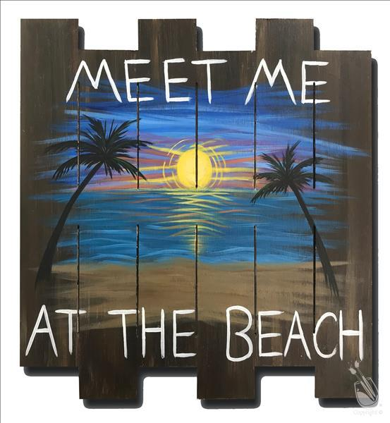 How to Paint Meet Me at the Beach Pallet