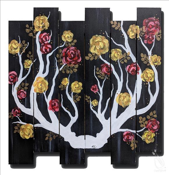 How to Paint Rustic Floral Antlers Wood Pallet